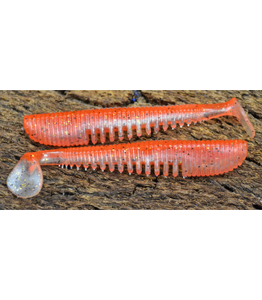 "Awaruna 1,5"" - 3.8cm  422 Tomato Pepper - Pearl Gold Flash Minnow 10 szt"