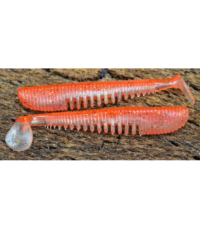 "Awaruna 4,5"" 11,5 cm -   422 Tomato Pepper Pearl Gold Flash Bait 5 szt."