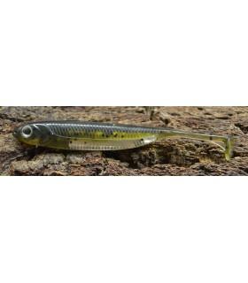 "Fish Arrow Flash-J Shad 4"" 10 cm purple weenie - silver"