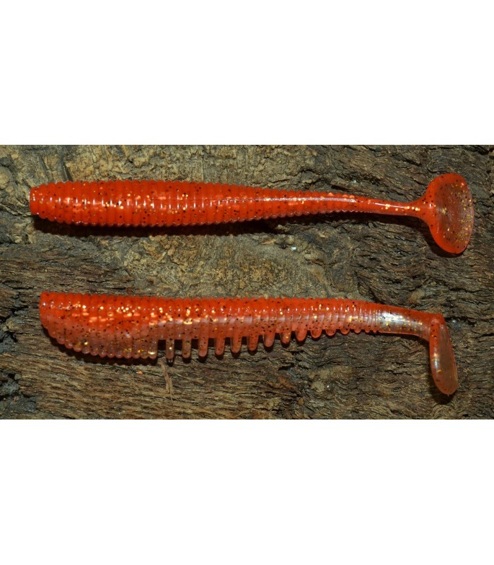 "Awaruna 4"" 10cm Awaruna -422 Tomato Pepper-Pearl Gold Flash  Minnow"