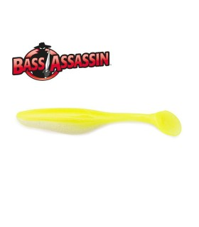 "Bass Assassin 6"" Sea Shad - Chartreuse Dog"